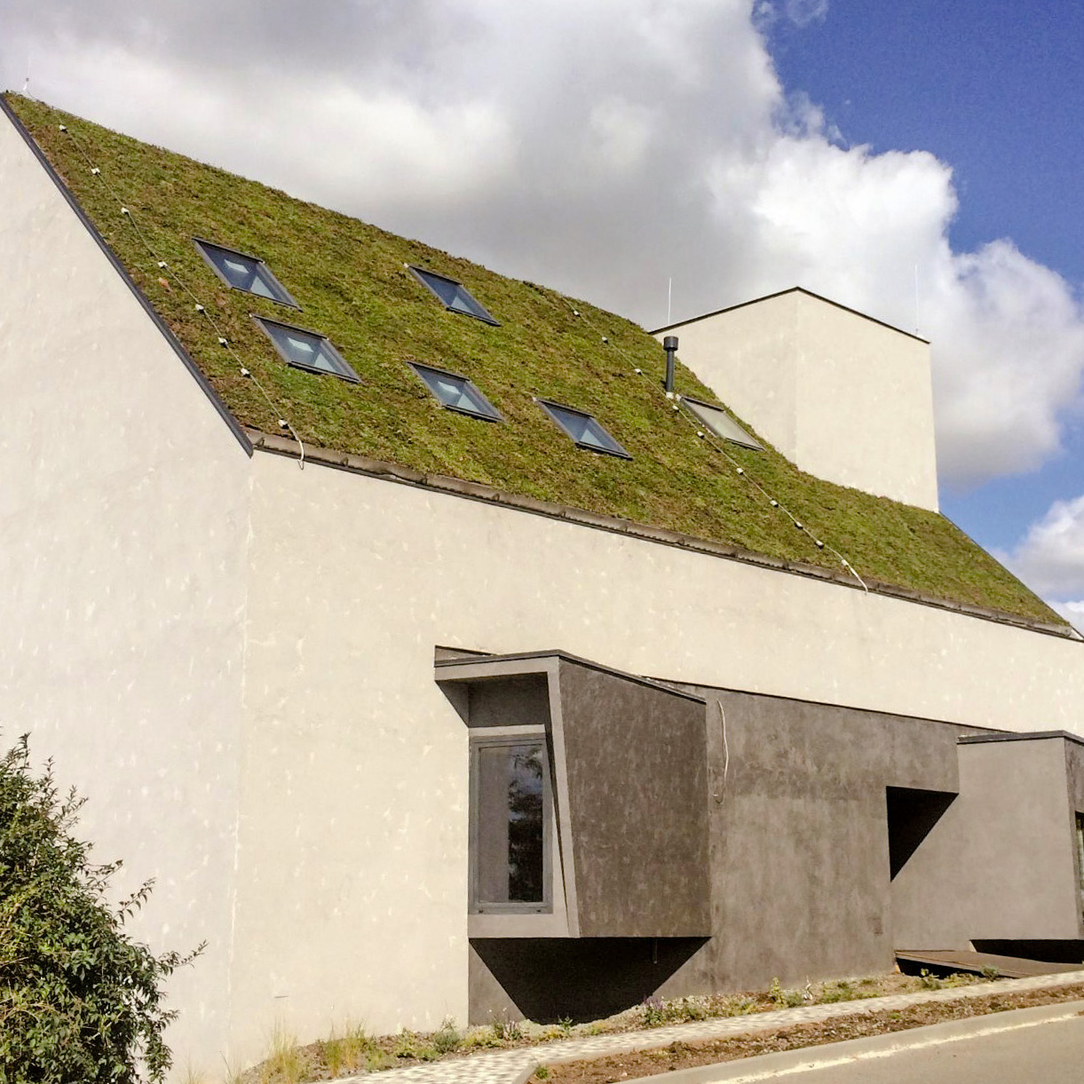 Šikmé zelené strechy