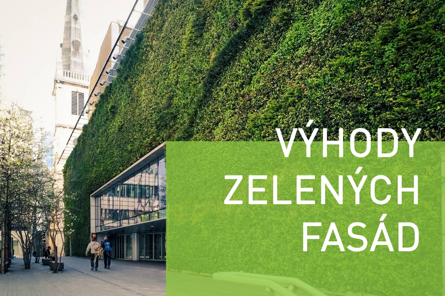 Aké výhody majú jednotlivé zelené fasády?