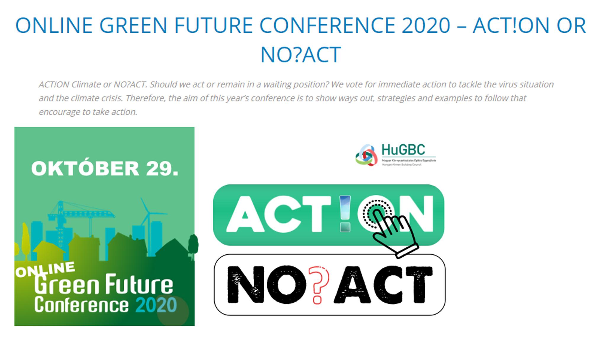 Zúčastněte se Online konference o zelených budovách green future: příklady z Holandska